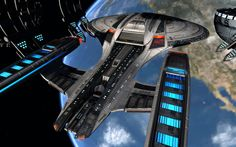 thomasthecat:    Wallpaper and screenshots of the Sojourner Operations Star Cruiser done for Star Trek Online's Flagship bundle.You can read more about the Sojourner and her sister ships here: https://indd.adobe.com/view/5d7ffcd8-7cf8-4561-a13a-5df451ef0511