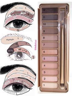 Eyeshadow looks for the Urban Decay Naked 3 palette. Some new ideas! - Eyeshadow looks for the Urban Decay Naked 3 palette. Some new ideas! This palette is fantasti - Love Makeup, Makeup Tips, Makeup Looks, Makeup Tutorials, Makeup Ideas, Pretty Makeup, 80s Makeup, Witch Makeup, Neutral Makeup