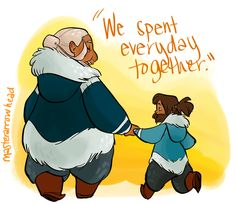 Korra/Katara comic pt. 4 by MasterArrowhead (I want to put them all together, but I can't figure out how...)