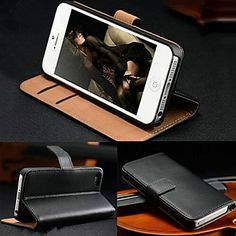 Wallet Card Holder PU Leather Case for iPhone 4/4S (Assorted Colors) – NOK kr. 40