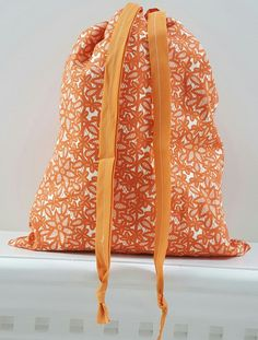 Orange White Lace Floral Print Hostess Gift by Iwillholdthatbags - SOLD OUT