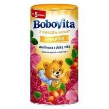 Bobovita Raspberry Rosehip Refreshing Tea for Babies (200g/7.1oz) Instant rasperry rosehip refreshing  tea for babies over 5 months.. No artificial colourings, aromas, preservatives.. No crystal sugar added.. Refreshing and thirst-quenching.. Imported from Poland..  #HerbatkaZMalinyZDzikaRoza #Grocery