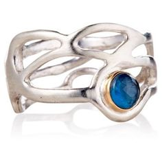 Check out this item at One Kings Lane! Chelle Ring w/ London Blue Topaz, Sz 6