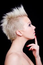 women spiked mohawk | Emo Haircuts for Girls