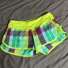 Lululemon Speed Shorts Plaid Pattern Size 4 Lululemon speed shorts. Size too small don't wear anymore. No flaws lululemon athletica Other