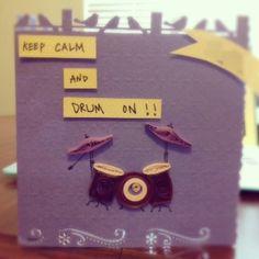 Wen's handmade birthday card! :) #Quilling #PopOutCard #BirthdayCard #Handmade