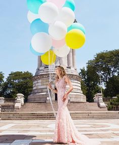 Balloons not included 💗 Spring Dresses, Prom Dresses, Formal Dresses, Wedding Dresses, Gowns For Rent, New Designer Dresses, Dress Rental, Blush Flowers, Pageant Gowns