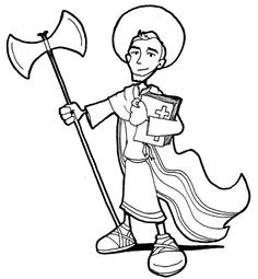 Saint Jude Thaddaeus Catholic coloring page # I.  Patron Saint of the impossible. Feast day is October 28th.