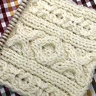 アラン模様(Diamond1)ダイヤモンド/ダイヤモンド・ケーブル 棒針の模様編みの編み図と編み地「編み物模様パターンカタログ」