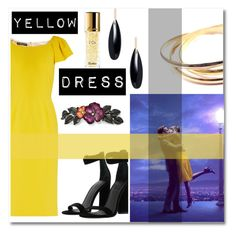 """YELLOW DRESS🌼"" by audreyroset ❤ liked on Polyvore featuring Guerlain, Dolce&Gabbana, Janis Savitt, Kendall + Kylie, 1928 and Cartier"