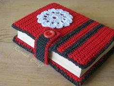 Crochet Qur'an Cover - hakeln Crochet Book Cover, Crochet Phone Cover, Crochet Books, Love Crochet, Crochet Gifts, Crochet Baby, Crochet Leaf Patterns, Crochet Bookmark Pattern, Crochet Bookmarks