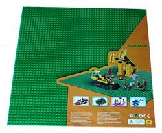 """Green X-large Baseplate, Construction Base Plates, 50x50 Studs (15\""""x15\""""), Great for Activity Table or Displaying Construction Toy ** See this great product."""