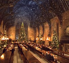 The most wonderful time of the year was not so wonderful for Harry Potter before his first holiday at Hogwarts. How do the Weasleys make Harry's first Christmas at Hogwarts magical? Natal Do Harry Potter, Harry Potter Navidad, Harry Potter Weihnachten, Hogwarts Christmas, Harry Potter Christmas, Christmas Time, Merry Christmas, Magical Christmas, Christmas Movies