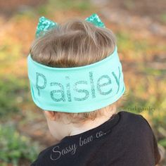Adorable personalized sparkling bow from Sassybowco.com