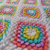 Ravelry: Crochet Blanket Floral Yummy 3D flower Granny Square pattern by Sol Maldonado $7