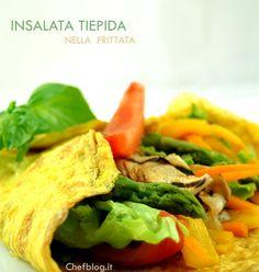 insalata tiepida nella frittata