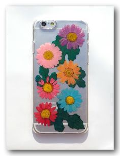 Real flowers phone case for iPhone 6, Pressed flower phone case (33)