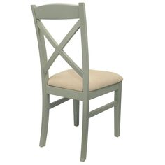 Florence kitchen dining chair. Stunning crossback upholstered chair, Sage Green