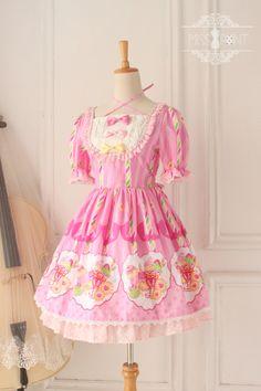 Miss Point -Sweet Party- Sweet Lolita OP Dress - Sold Out,Lolita Dresses, Harajuku Fashion, Kawaii Fashion, Lolita Fashion, Cute Fashion, Pastel Fashion, Kawaii Dress, Kawaii Clothes, Diy Clothes, Looks Kawaii