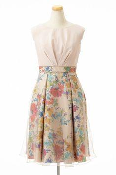 フラワープリントスカートドレス - 「AIMER(エメ)公式通販サイト|パーティー・結婚式ドレスで人気」