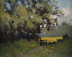 """Daily Paintworks - """"Buttercup Field"""" - Original Fine Art for Sale - © Jethro Knight"""