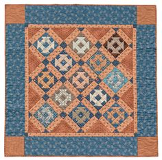 Get a lattice-like look by setting blocks on point and adding sashing to this pretty Butterscotch and Blue Churn Dash quilt by Jo Morton. Blue Quilts, Small Quilts, Mini Quilts, Churn Dash Quilt, Civil War Quilts, Sampler Quilts, Miniature Quilts, Doll Quilt, Antique Quilts