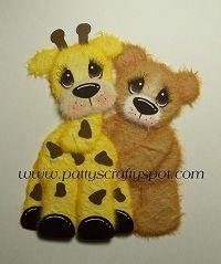 Gina Giraffe with Tear Bear