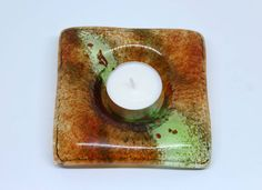 fused glass candle holder glass tealight holder candle gift for girlfriend, bridesmaid gift, gift for women, gift for wife, gift for bride by agoraonlineshop on Etsy Glass Tea Light Holders, Glass Candle Holders, Fused Glass Art, Bride Gifts, Gifts For Wife, Bridesmaid Gifts, Tea Lights, My Etsy Shop, Candles