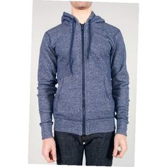 UNITE : Naked & Famous Navy Vintage Terry SlimHoodie - 011385 Naked & Famous Navy Vintage Terry SlimHoodie
