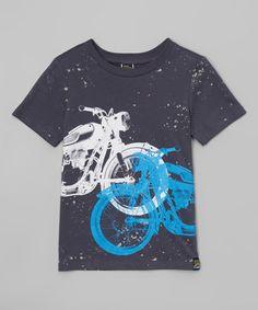 Look what I found on #zulily! Dark Gray Motorcycle Splatter Tee - Boys #zulilyfinds
