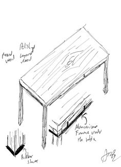 table simple dining furniture sketches kitchen wood draw minimum pressed avoid rubber moving leg bottom give sheet each support order