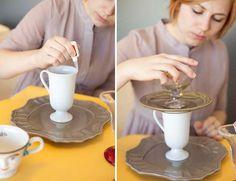 DIY tiered dessert trays