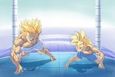07 - Boxer & Rice: DBZ Yaoi Fanfictions & Fanarts of Two Princes Dragon Ball Z, Manga Anime, Anime Art, Anime Friendship, Train Art, Black Cartoon, Animes Wallpapers, Comic Art, Character Design