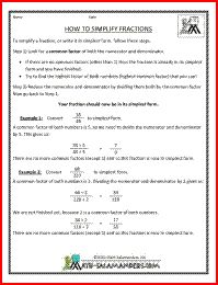 math worksheet : converting fractions to simplest form simplifying fractions  : Fractions In Simplest Form Worksheet