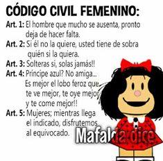 #VIDAsana de #EstelaM #KioskoFiguritas: #MAFALDA, Argentina 2 Funny Spanish Memes, Spanish Humor, Spanish Quotes, Funny Jokes, Woman Quotes, Me Quotes, Mafalda Quotes, Inspirational Phrases, Wise Words