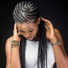Totally Gorgeous Ghana Braids Hairstyles - Loud In Naija Box Braids Hairstyles, Braids Wig, My Hairstyle, African Hairstyles, Black Girl Braids, Braids For Black Hair, Girls Braids, Cornrows, Natural Hair Styles