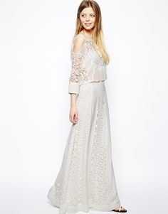 Image 1 of ASOS Premium Maxi Skirt In Vintage Lace