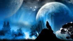 fantasy howling wolf 1Pick a board 080p hd wallpaper