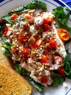 Chicken and Fig Salad with Goat Cheese Dressing