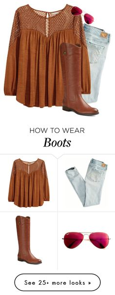 """Boots for autumn"" by sigrid997 on Polyvore featuring American Eagle Outfitters, H&M, Merona and Ray-Ban"
