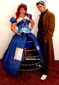 Tardis and 10th Doctor Cosplay  Won Best Sci-Fi in the Dragon*Con 2012 Hallway Costume Contest!!!