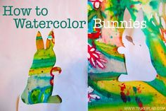 I like this idea- cut out shapes from watercolor projects Art Videos For Kids, Art Activities For Kids, Easter Activities, Preschool Art, Art For Kids, Toddler Activities, Watercolor Art Face, Watercolor Art Paintings, Watercolor Projects