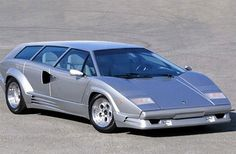 Lamborghini Countach Wagon. Thats some grocery getter. Ice cream will never be melted by the time you get home ever again.
