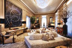 Eclectic Living Room in New York, NY by Kips Bay Decorator Show House