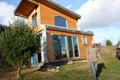 Ontario Container Home cob, rocket stove, shipping container solar off grid home!