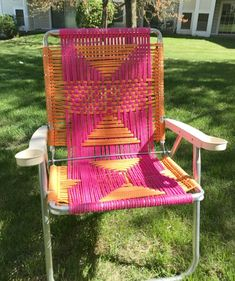 macrame lawn chair Outdoor Cushions, Outdoor Chairs, Outdoor Furniture, Modern Furniture, Patio Chairs, Adirondack Chairs, Desk Chairs, Office Chairs, Room Chairs