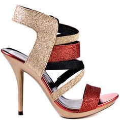 Heels I Love #heels #summer #high_heels #color #love Michael Antonio   Texana - Gold Glitter