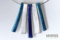 Halsschmuck / Halskette aus Keramik von MARISS-Schmuck auf DaWanda.com