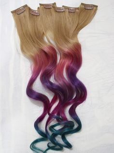 Colorful hair extensions from mode salon and day spa indianapolis festival hair pastel tie dye tips human hair extensions colored hair extension clip hair wefts clip in hair rainbow hair extensions pmusecretfo Images