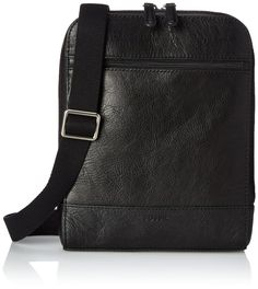 Fossil Rory Courier Bag, Black, One Size